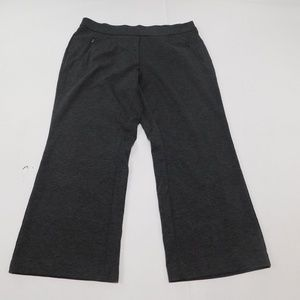 CATO 18 WP Gray Capri Pants Pull On Poly Blend